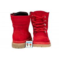 Ботинки красные BEGI B15