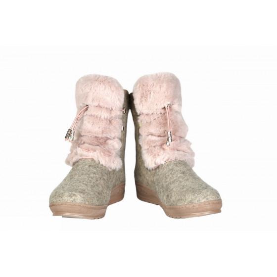 Валенки Фома 56206, серые с розовым мехом