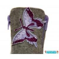 Валенки Фома с фиолетовой бабочкой
