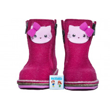 Унтоваленки Фома: фуксия, нашивка Hello Kitty