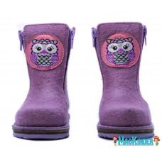 Унтоваленки Фома, фиолетовые с совой