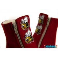 Унтоваленки Фома красные с пчелками