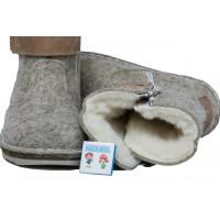 Унтоваленки Фома серые: коричневые липучки