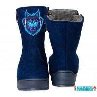 Валенки Фома с синим волком