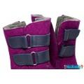 Валенки Фома фиолетовые с кожаными липучками