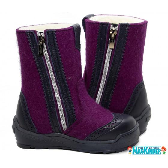 Валенки Фома фиолетовые, ажур