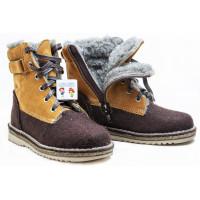 Унтоваленки Фома/Untovalenki коричневые со шнурками