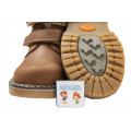 Ботинки Woopy на флисе, 2 липучки, коричневые