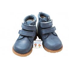 Ботинки на флисе Woopy, светло-синие, на 2х липучках