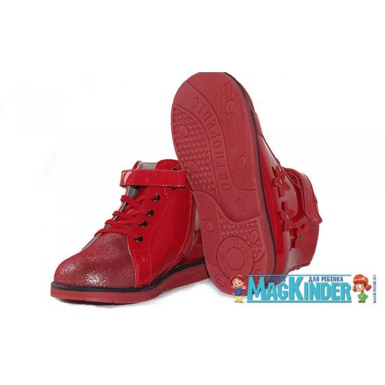Полуботинки Orthoboom детские красные
