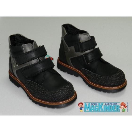 Ботиночки на флисе Woopy, на двух липучках