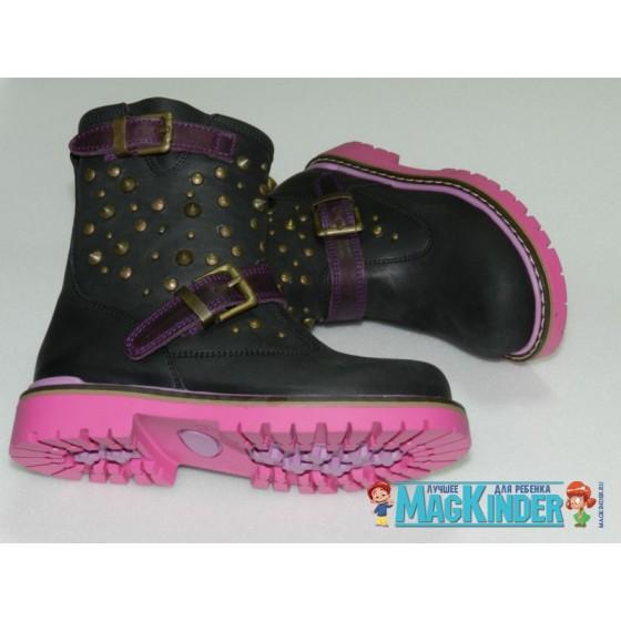 Полусапожки Woopy на флисе, на розовой подошве