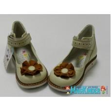 Туфельки Woopy Orthopedic с коричневым бантом